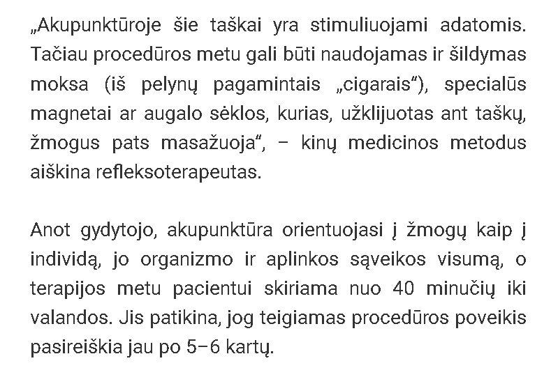 vilnius akupunktūra